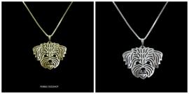Maltezer / Shih tzu  Halsketting Silver Plated - IN VOORRAAD