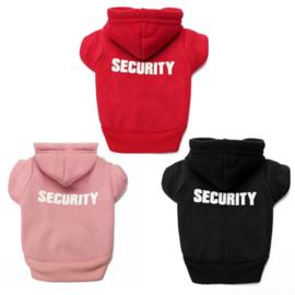 Honden Hoody Security Roze - Medium - Ruglengte 30-32 cm - In Voorraad