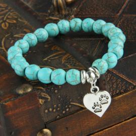 Armband blauw alloy