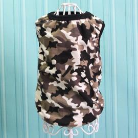 Honden Shirt Camouflage Grote Hond Zwart Bruin  2XL,4XL,5XL,6XL