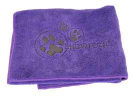 Show Tech Handdoek  Voor Honden En Katten 56x90 cm  Paars - Microfibre Handdoek