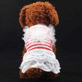 Hondenjurkje Rood Gestreept  - Medium - Ruglengte 35 cm - In Voorraad