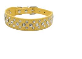 Halsband Rhinestone Geel - Maat XS