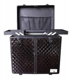 Trim koffer - Trolley  Aluminium Zwart - Gratis Verzending