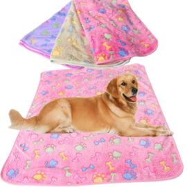 Hondendeken Fleece Bone& Paw