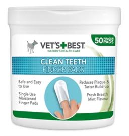 VETS BEST CLEAN TEETH FINGER PADS 50 ST