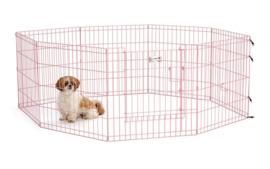 Puppyren Roze Uitvouwbaar XL -  560cm Omtrek & 60 cm Hoog- Gratis Verzending