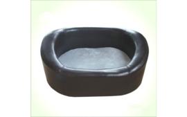 Hondenbank leatherlook zwart 78x57x34cm - GRATIS VERZENDING