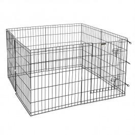 Puppyren Zwart Uitvouwbaar 560x92 cm H - Gratis Verzending