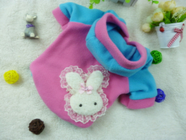 Hondenjas Roze Rabbit - Medium - Ruglengte 26 cm - In Voorraad