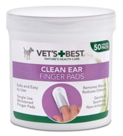 VETS BEST CLEAN EAR FINGER PADS 50 ST