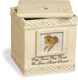 Honden Urn Vierkant met Fotolijstje - Gratis Verzending