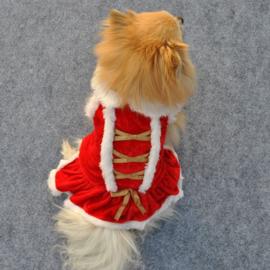 Honden kerst jurkje - Large - Ruglengte 35 cm - In Voorraad