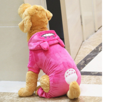 Honden jumpsuit Cartoon Roze  3XL t/m 9XL