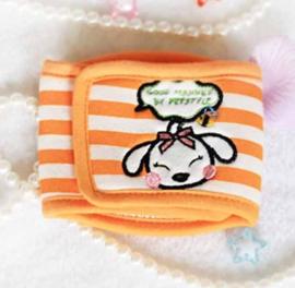 Plasband Cartoon Orange gestreept - LARGE - Taille 33-38 cm - IN VOORRAAD