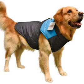 Honden jas Starpet Blauw - Large - Rug lengte 36 cm - In Voorraad
