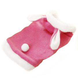 Hondenjas Roze Konijn - Maat XS - Ruglengte 20-22 cm - In Voorraad
