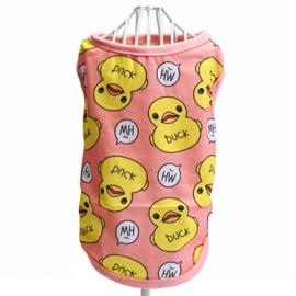 Honden shirt eend roze - Medium - Ruglengte 30 cm - In Voorraad