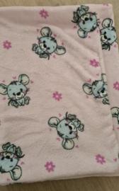 Hondendeken Fleece Little Mouse Roze 70x50 cm - IN VOORRAAD