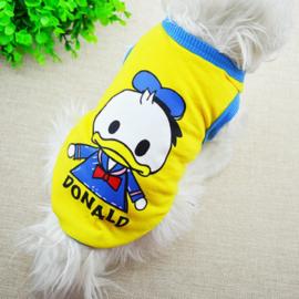 Honden Shirt Cartoon Geel - Medium-  Ruglengte 30 cm - In Voorraad