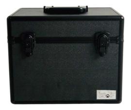 Aluminium trimkoffer medium zwart 37 x 22 x 27 cm