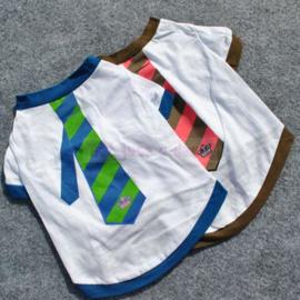 Hondenshirt stropdas Blauw - Medium - Ruglengte 30 cm - In voorraad