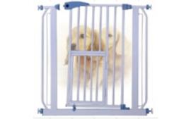 Traphek - Deurhek - Dierenhek met puppydeurtje - Hoogte 80 cm - Gratis Verzending