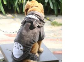 Honden Jumpsuit Cartoon Grijs - Maat 5 XL - Ruglengte 55 cm - In Voorraad