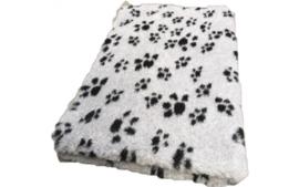 Vet Bed met zwarte voet print grijs  - Latex Anti-Slip