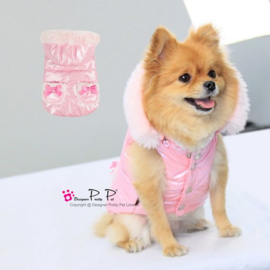Hondenjas Pretty Pet Body Metallic Bow Pink - Gratis verzending