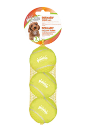 SQUEAKY TENNIS BALL 6 CM 3-PACK
