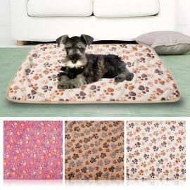 Honden Fleece Deken Paw Roze  60 x 40 cm - In Voorraad