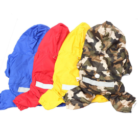 Honden regenpak camouflage -Large - Ruglengte 34 cm - In Voorraad