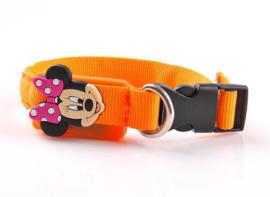 Hondenhalsband Led mini - Rood en Oranje - Nek 20-27 cm