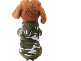 Hondentrui Camouflage Groen Capuchon - Large- Ruglengte 34 cm - In Voorraad