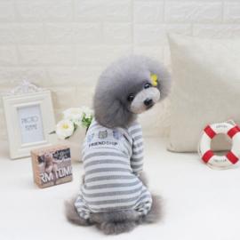Hondenpakje Vriendschap Grijs  - XL - Ruglengte 35 cm - IN VOORRAAD