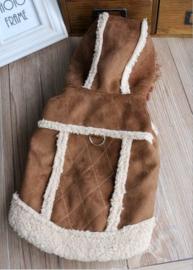 Hondenjas Brown - Maat Large - Ruglengte 30 cm - In Voorraad