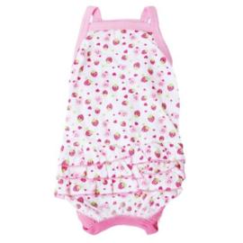 Honden jurk wit roze Summertime - Small - Ruglengte 24 cm - In Voorraad