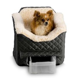 Honden autostoel Snoozer Lookout II Pet Car Seat - Small - Black tot 8 kg met opberglade - Gratis Verzending