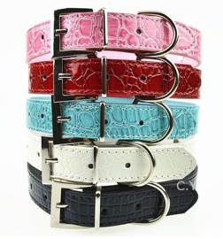 Halsband roze voor schuif letters - Small  - Nekomvang 27-33 - In Voorraad
