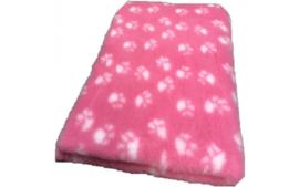 Vet bed Roze met witte voetprint