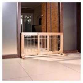 Honden hek hout barrier 63-108 x 50 - Gratis Verzending - IN VOORRAAD