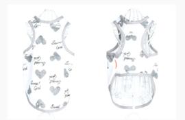 Honden Shirt Love Grey - LARGE - Ruglengte 35 cm- In Voorraad