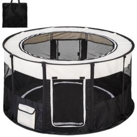 Puppy Ren Zwart Opvouwbaar Inclusief Tas  - 120 x 60 cm hoog - Gratis Verzending