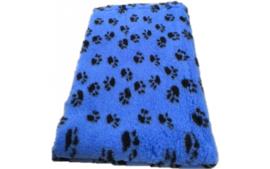 Vet bed Kobaltblauw met zwarte  voetprint
