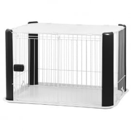 Puppy Ren Zwart met afneembaar Dakje 113 x B78,8 x H60cm - Gratis Verzending