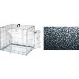 Hondenbench Premium Black Silver Coating Inclusief uitschuifbare lade.