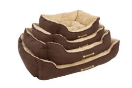 Hondenmand Scruffs Cosy Box Bed Chocolade Bruin 4 Maten