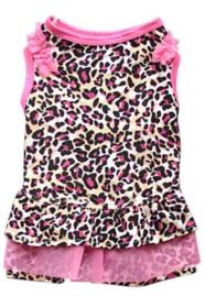 Hondenjurkje Leopard Roze - Large - Ruglengte 30 cm - In Voorraad