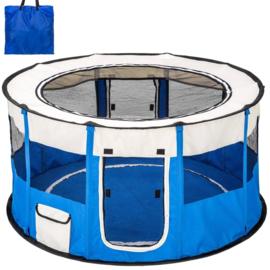 Puppy Ren Blauw Opvouwbaar Inclusief Tas - 120 x 60 cm hoog - Gratis Verzending